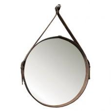 Зеркало  Country на ремне из кожи  диаметр 51 см