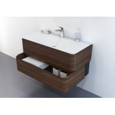 Комплект мебели AM:PM Sensation  80 см табачный дуб, зеркальный шкаф