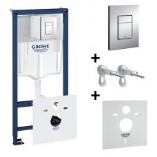 Grohe Rapid SL Инсталляция для унитаза 4 в 1 ( крепеж, кнопка, звукоизоляционная прокладка) 38775001