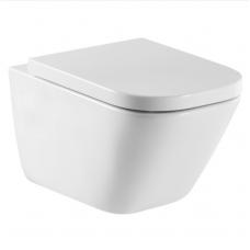 Roca Гап унитаз подвесной безободковый + сидение с микролифтом (толстое)