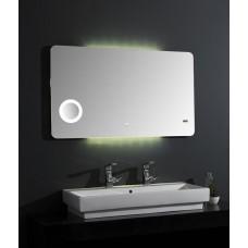 Акватон Элио 80 Зеркало с подсветкой, увеличительное зеркало и часы