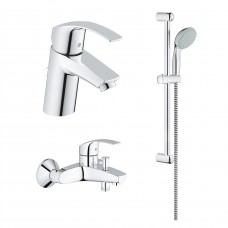 Grohe  комплект - смесители для ванны и раковины + душевой гарнитур